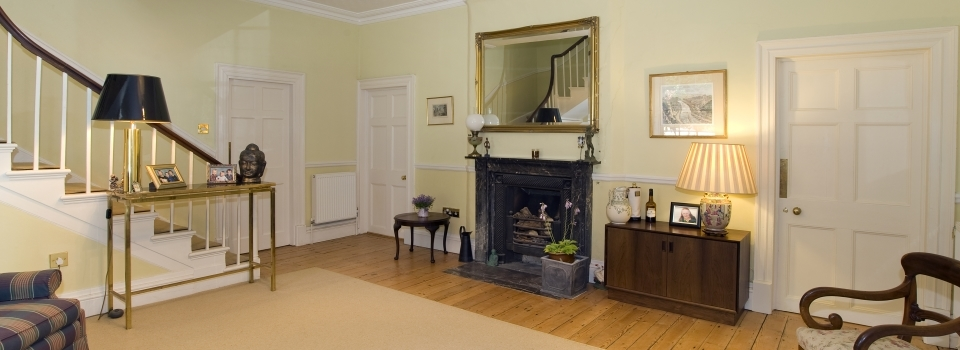 Entrance Hall at the Old Vicarage B&B Kenton near Exeter