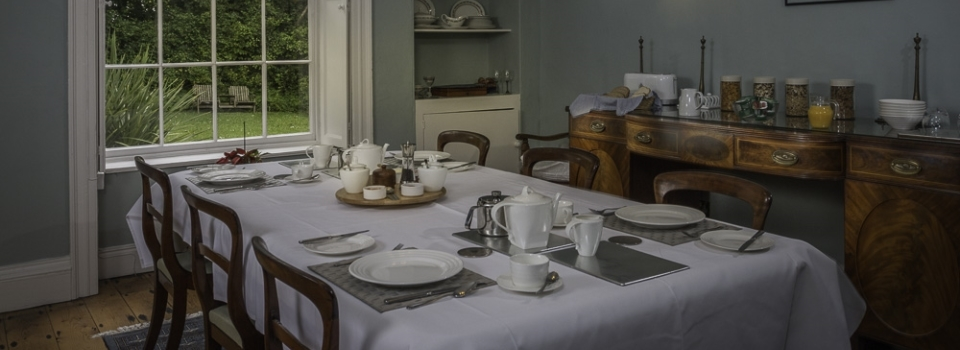 Guests can enjoy breakfast in our stunning dining room